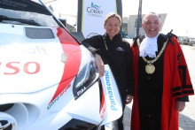 2019 Wales Rally GB Liverpool LaunchLouise Emery and Peter Brennan