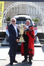 2019 Wales Rally GB Liverpool LaunchDavid Richards and Peter Brennan