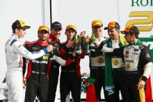 Action Express drivers on the podium