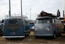 VW Camper vans on the infield
