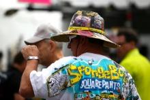 Fans on the grid at Daytona