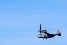MV-22 Osprey over the circuit