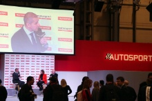 Sally Reynolds (GBR) and Ian Titchmarsh (GBR) Silverstone on the Autosport Stage