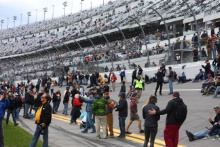 Fans at the Daytona 24 hours - signing the track before the race