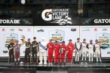 P2 Podium, Roberto Gonzalez / Pastor Maldonado / Sebastian Saavedra / Ryan Cullen - DragonSpeed ORECA LMP2 are the winners