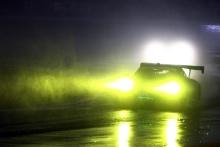 A Porsche in the rain