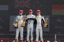 Race 4 Podium (l-r) Manaf Hijjawi, Dylan Young, David Schumacher