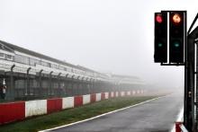A foggy test day at Donington Park