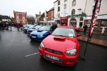 Car displays at the 23rd Rallye Monte-Carlo Historique Banbury Passage Control
