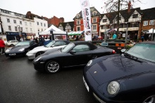 Car displays at the 23rd Rallye Monte-Carlo Historique Banbury Passage Control