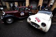 Brian Mackrill / Marc Hanson MG and Helm / Flexney Triumph TR3