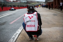 Media at the BRDC F3 test day