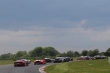 Start of the race, Richard Neary / Sam Neary - Team Abba Racing Mercedes AMG GT3 leads
