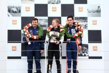Walter Hayes Trophy Grand Final podium, Matt Cowley, Michael Moyers and Jordan Dempsey