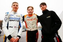 Tom Emson (GBR) Elite Motorsport Ginetta Junior, James Hedley (GBR) Elite Motorsport Ginetta Junior, Joel Pearson (GBR) Elite Motorsport Ginetta Junior