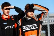 Joe Leek (GBR) Ginetta Junior and Freddie Tomlinson (GBR) Ginetta Junior