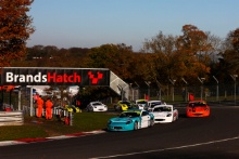 Start of Race Gus Burton (GBR) Douglas Motorsport Ginetta Junior leads