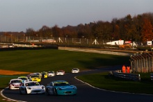 Start of Race 4, Gus Burton (GBR) Douglas Motorsport Ginetta Junior leads