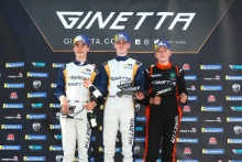 Podium Race 2 Casper Stevenson /Richardson Racing Ginetta Junior Will Martin / Richardson Racing Ginetta Junior James Hedley / Elite Motorsport Ginetta Junior