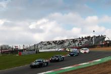 Start of Race 3, James Taylor Elite Motorsport Ginetta Junior leads