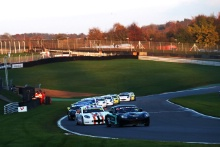 Start of Race 4, Aston Millar R Racing Ginetta Junior leads