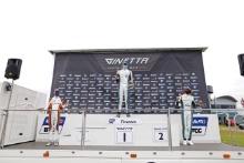 Race 1 Podium Seb Hopkins - Elite Motorsport Ginetta Junior Tom Edgar - R Racing Ginetta Junior Josh Rowledge - Elite Motorsport Ginetta Junior