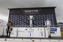 Race 2 Rookie Podium Josh Rowledge - Elite Motorsport Ginetta Junior Callum Voisin - R Racing Ginetta Junior Robert De Haan - Richardson Racing Ginetta Junior