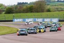 Start of Race 1 Aston Millar - R Racing Ginetta Junior leading