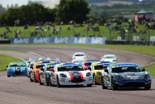 Start of the race Callum Voisin - R Racing Ginetta Junior leads