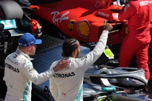22.06.2019 - Qualifying, 2nd place Valtteri Bottas (FIN) Mercedes AMG F1 W010 and Lewis Hamilton (GBR) Mercedes AMG F1 W10 pole position