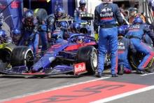 23.06.2019 - Race, Pit stop, Alexander Albon (THA) Scuderia Toro Rosso STR14