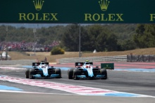 23.06.2019 - Race, George Russell (GBR) Williams Racing FW42 and Robert Kubica (POL) Williams Racing FW42