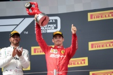 23.06.2019 - Race, 1st place Lewis Hamilton (GBR) Mercedes AMG F1 W10 and 3rd place  Charles Leclerc (MON) Scuderia Ferrari SF90