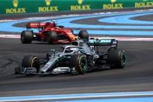 23.06.2019 - Race, Valtteri Bottas (FIN) Mercedes AMG F1 W010 amd Charles Leclerc (MON) Scuderia Ferrari SF90