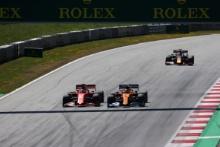 30.06.2019 - Race, Sebastian Vettel (GER) Scuderia Ferrari SF90 and Lando Norris (GBR) Mclaren F1 Team MCL34