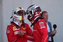 30.06.2019 - Race, Sebastian Vettel (GER) Scuderia Ferrari SF90 and 2nd place Charles Leclerc (MON) Scuderia Ferrari SF90