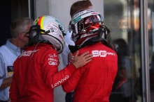 30.06.2019 - Race, Sebastian Vettel (GER) Scuderia Ferrari SF90 and Charles Leclerc (MON) Scuderia Ferrari SF90