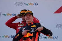 30.06.2019 - Race, Max Verstappen (NED) Red Bull Racing RB15 race winner and 2nd place Charles Leclerc (MON) Scuderia Ferrari SF90