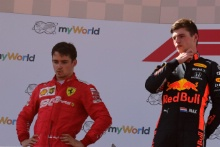 30.06.2019 - Race, 2nd place Charles Leclerc (MON) Scuderia Ferrari SF90 and Max Verstappen (NED) Red Bull Racing RB15 race winner