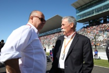 13.10.2019- starting grid, Chase Carey (US), Liberty Media and Luca Colajanni (ITA) Head of Motorsport Press Office Formula 1