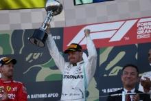 13.10.2019- podium, winner Valtteri Bottas (FIN) Mercedes AMG F1 W10 EQ Power