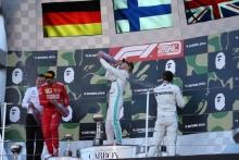 13.10.2019- podium, winner Valtteri Bottas (FIN) Mercedes AMG F1 W10 EQ Power, 2nd place Sebastian Vettel (GER) Scuderia Ferrari SF90, 3rd place Lewis Hamilton (GBR) Mercedes AMG F1 W10 EQ Power