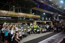 01.12.2019 - Race, Celebration, Lewis Hamilton (GBR) Mercedes AMG F1 W10 race winner