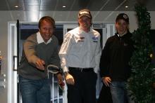 Pirelli WRC Academy en of sasion celebration, Petter Solberg (NOR), Citroen DS3 WRC, Petter Solberg Rallying, Jari-Matti Latvala (FIN), Ford Fiesta RS WRC, BP Ford Abu Dhabi World Rally Team and Kris Meeke (GB), Mini John Cooper Works, MINI WRC TEAM